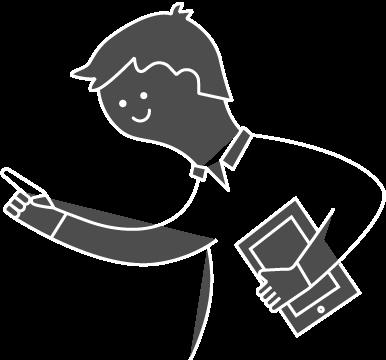 hombre con una tablet